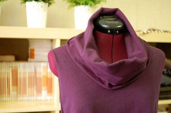 cowl folded down