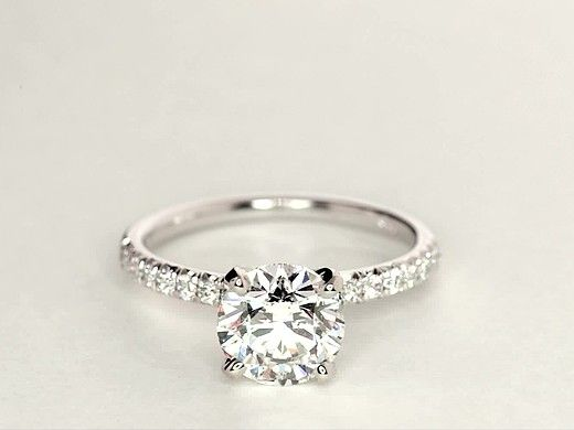 2 Carat Diamond French Pavé Diamond Engagement Ring | Recently Purchased | Blue Nile