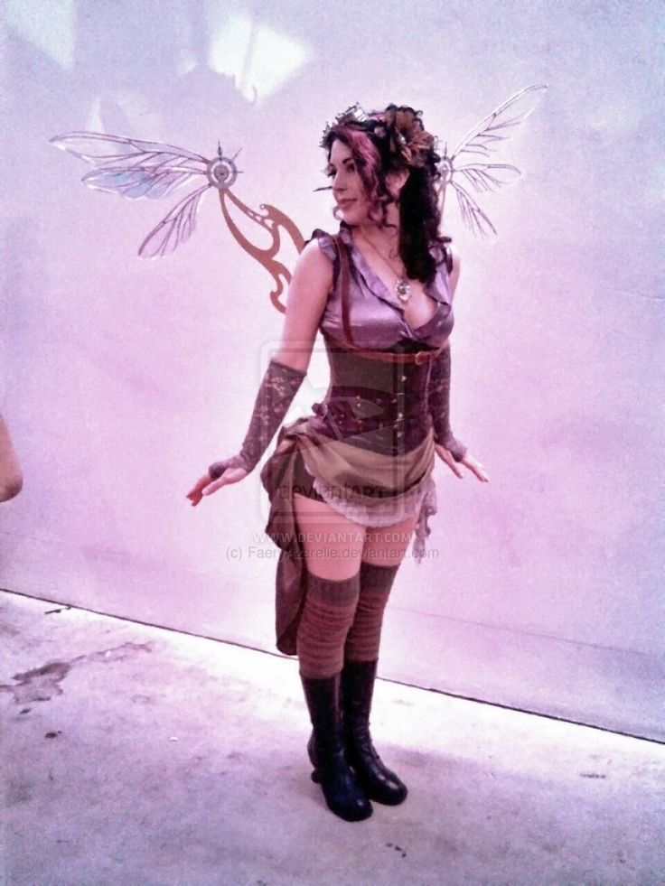 WOW!! I'm impressed... By the entire costume   Steampunk Fairy Wings by FaeryAzarelle.deviantart.com on @deviantART