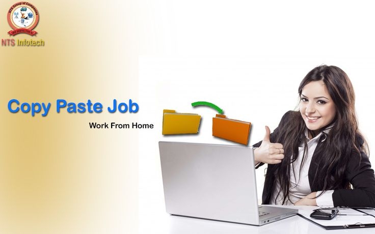NTS infotech provide Copy Paste Job for them who want to work from home. For more visit www.ntsinfotechindia.com
