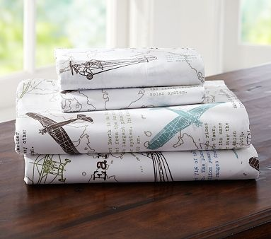 I love the Austin Sheeting on potterybarnkids.com!  This is perfect for the longitude/latitude quilts i got for their big boy beds!!!!!!!