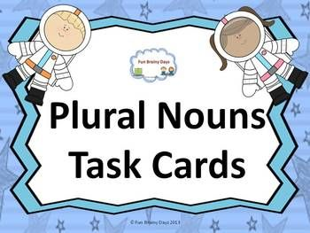 This include 20 picture task card where your student need to write the plural form of each picture. And another 20 task card with sentences where they have to choose the correct plural form. Total of 40 Cards!! This is a good way to make your student master plural forms. $3.00