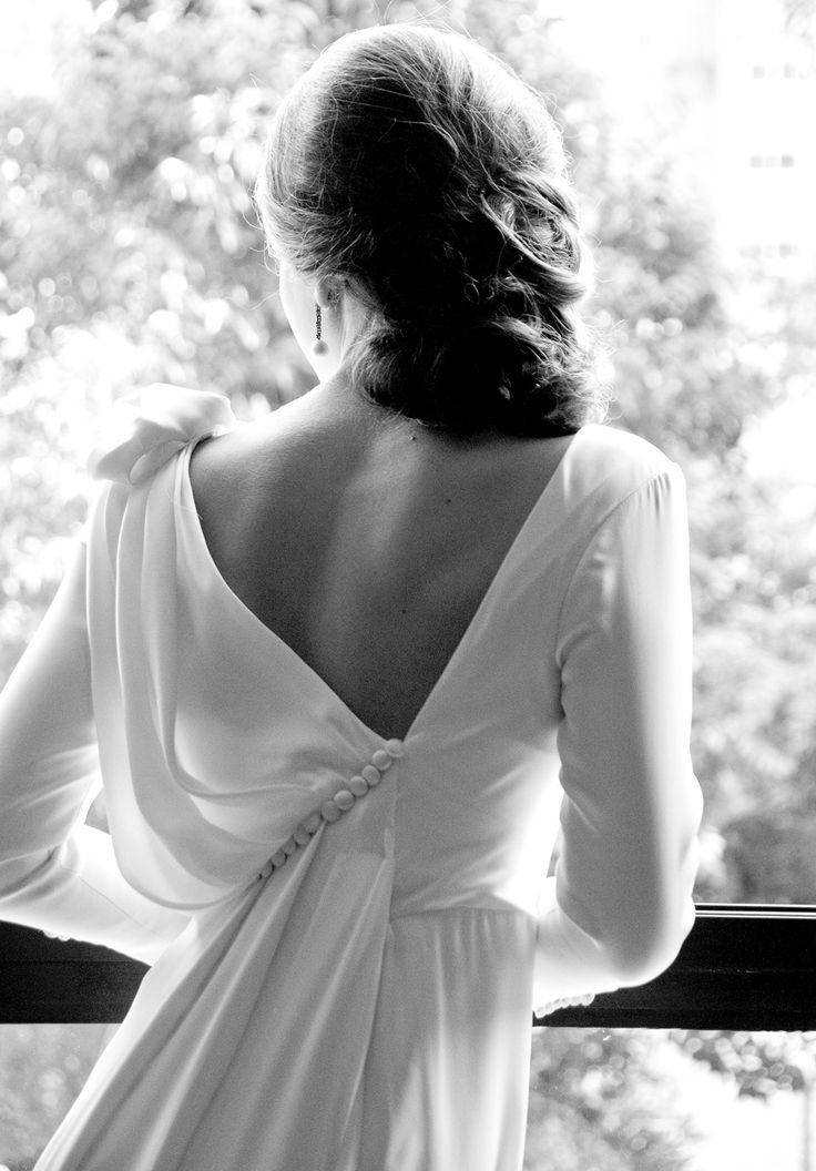 Espalda original para vestidos de #novia.