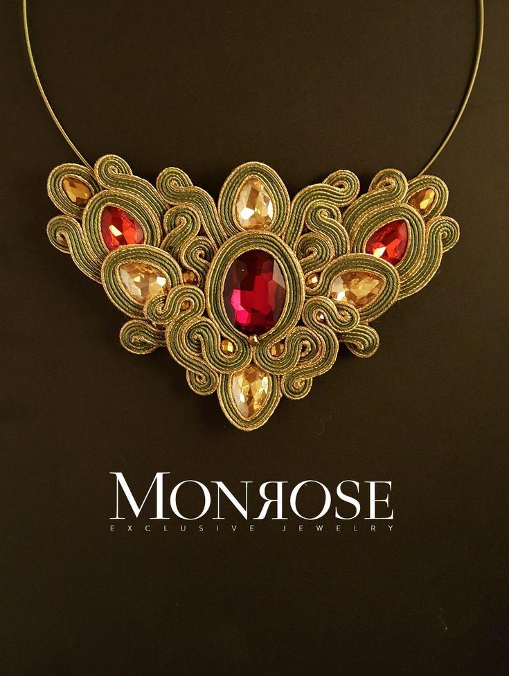 "Soutache necklace ""Misletoe"" by Monrose Jewerly"