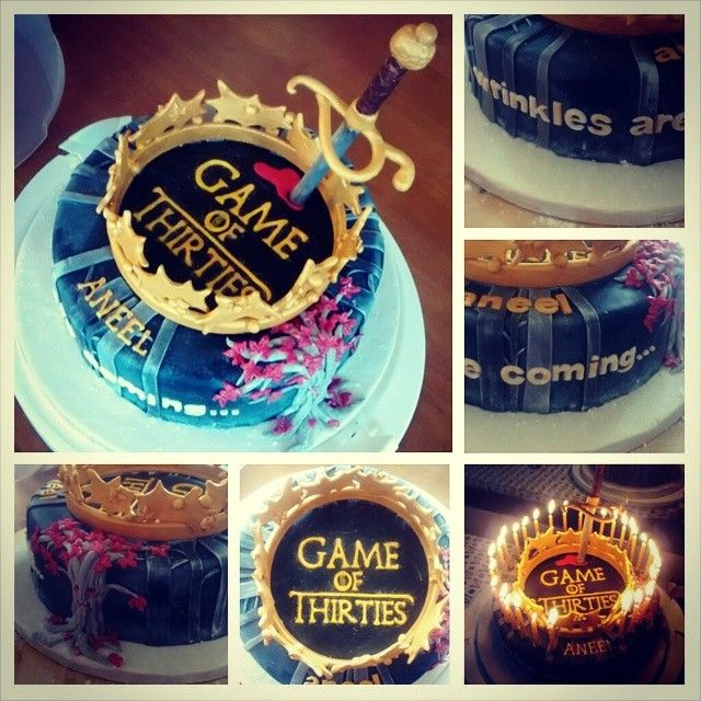 Game of thrones 30th birthday cake. GOT