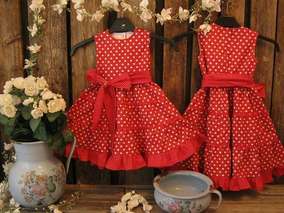Red+polka+dot+dress.+Girls+summer+dress.+by+englaCharlottaShop,+€35.00