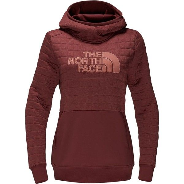 The North Face Half Dome Quilted Pullover Hoodie ($75) ❤ liked on Polyvore featuring the north face