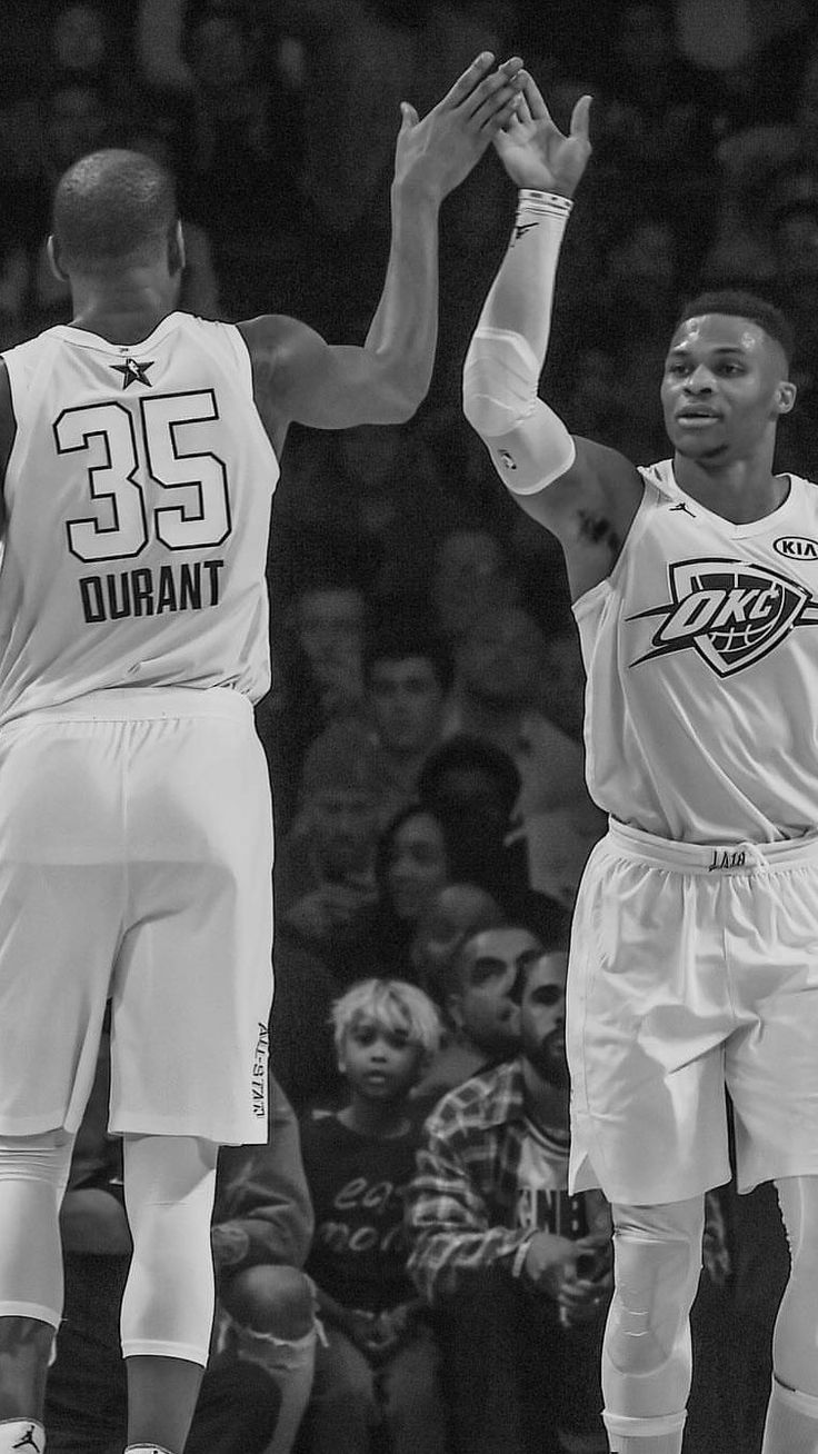 Kevin Durant and Russell Westbrook All-Star wallpaper