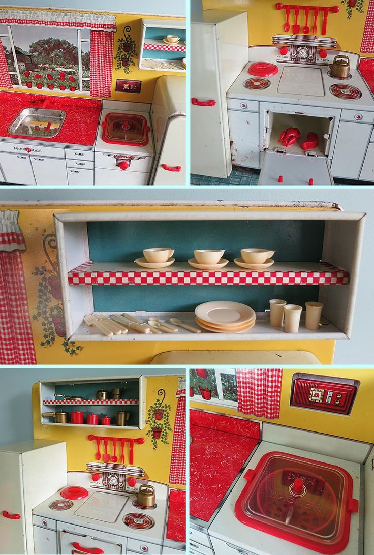 Vintage toy kitchen set for Toy kitchen set
