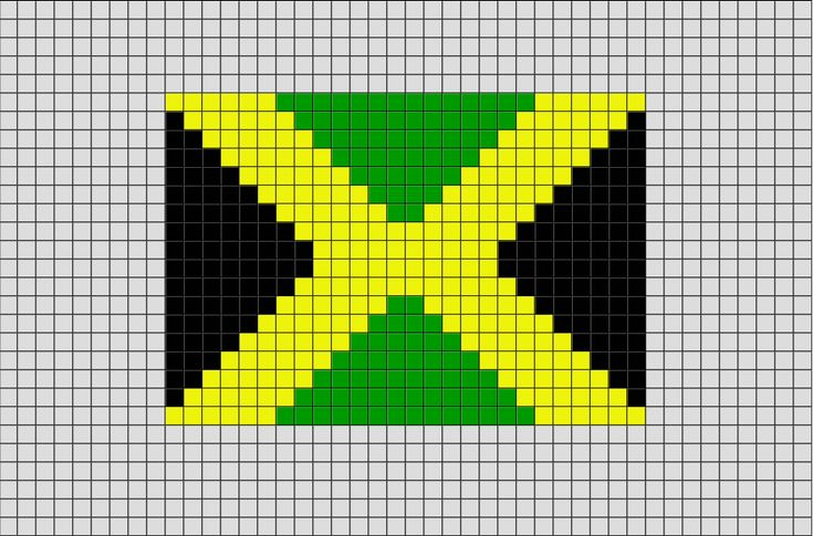 Flag of Jamaica Pixel Art from BrikBook.com #Jamaica #FlagofJamaica…