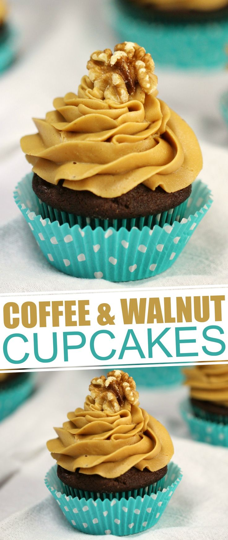 Chocolate Coffee and Walnut Cupcakes have a satisfying crunch with a subtle coffee flavour.