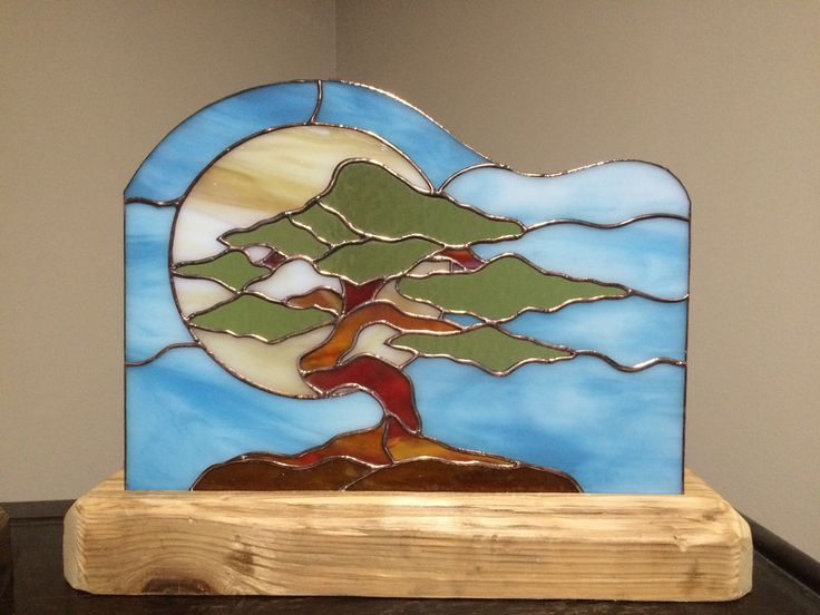 Bonsai Tree Stained Glass