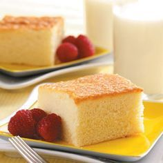 Hot Milk Cake. Super simple recipe for a white cake, with ingredients that we always have on hand
