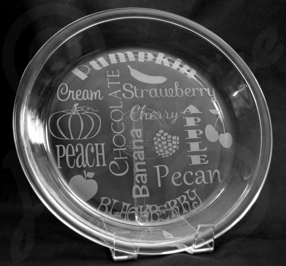 Etched Pie Plate Subway Art 9 Glass Pie plate by Jaenique on Etsy