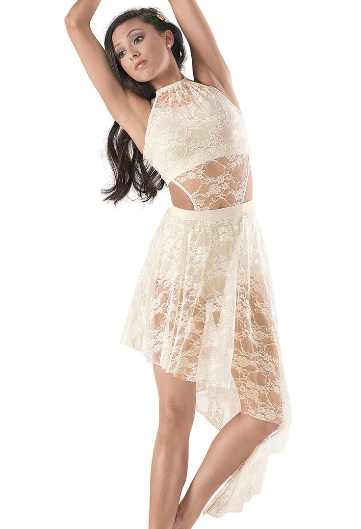 Gorgeous Jazz or Lyrical outfit Weissman™ | Sequin Top & Brief w/ Lace Overdress www.LaiRupe.com