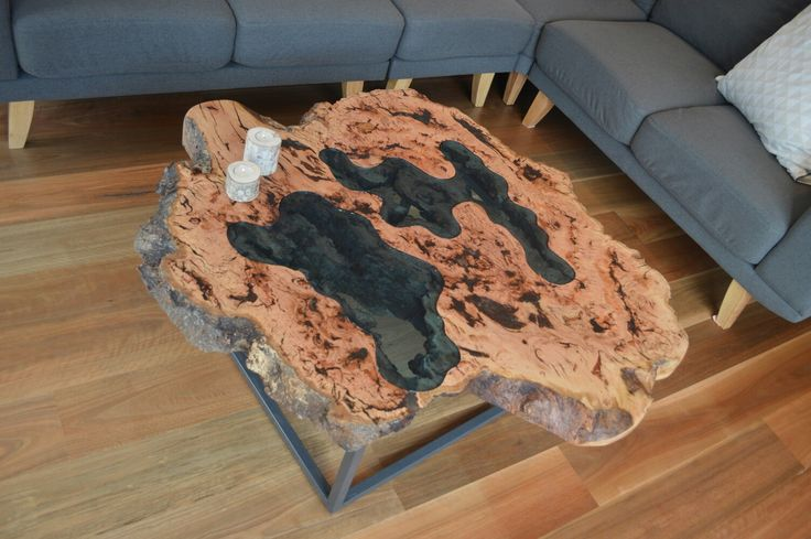Messmate burl coffee table