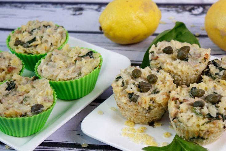 Bezglutenowe danie, które jest super proste do przygotowania a do tego super smaczne. Muffinki makaronowe z tuńczykiem, kaparami i śmietanowym sosem.