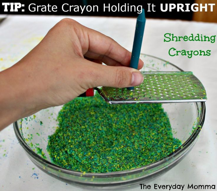 Tip for shredding crayons for art, Why Didn't I think of That, Shredded Crayon Canvas Art, melted crayon art, kids crafts, Upcycling crayons, reusing household items,