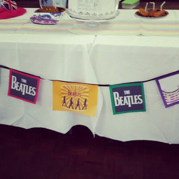 Beatles inspired bunting created by my sister