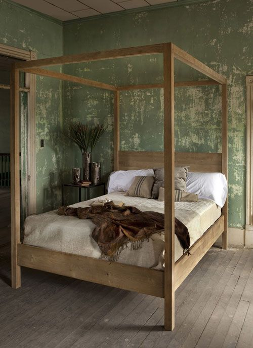 Ruby Beets - Rustic  Canopy Bed available in a variety of finishes