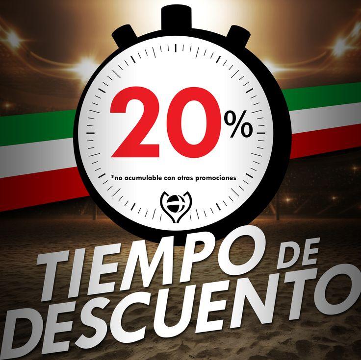 #TIEMPOdeDESCUENTO No te pierdas esta Promo!!! 20% de descuento en locales adheridos