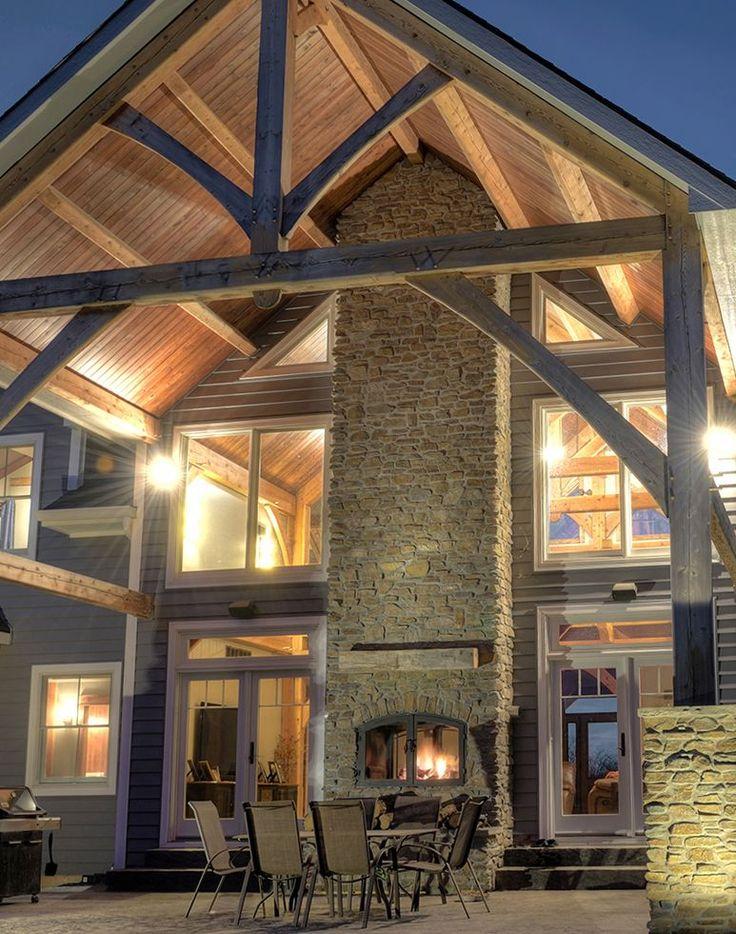 Indoor Outdoor Hearthroom 44 Wood Burning Fireplace with ...