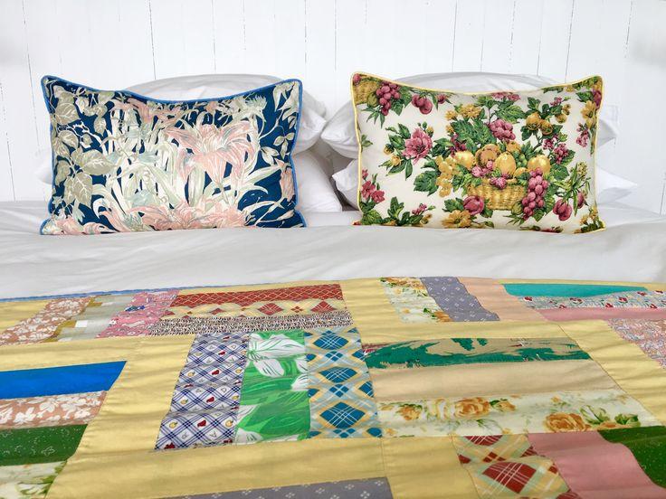 Handmade summer quilt and bedding at Fogo Island Inn NL