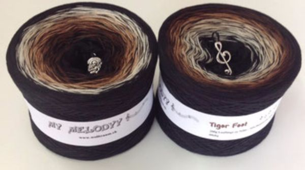 50% Cotton 50% Acrylic Fingering Weight 4 Ply 6 Colored Black Light Beige Mocha Brown Black