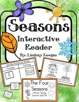 Seasons are so fun for young learners.  Use this interactive seasons mini-reader to help reinforce your students understanding of the four seasons.This book can be used across several lessons and is perfect for whole group, small group or center activities.There are 3 pages for each type of sorting.