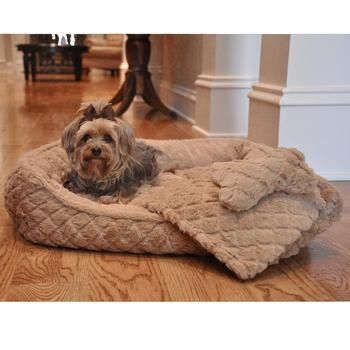 Plush Beige Faux Fur Diamond Quilted Dog Bed, Blanket and Bone Pillow Set - BeauJax Boutique Dogs are LOVING our NEW Plush Beige Faux Fur Diamond Quilted Dog Bed, Blanket and Bone Pillow Set! This set is made with super soft faux fur fabric and features a diamond quilted design. So comfy and plush for the dogs and blends beautifully with your home decor.  www.beaujax.com