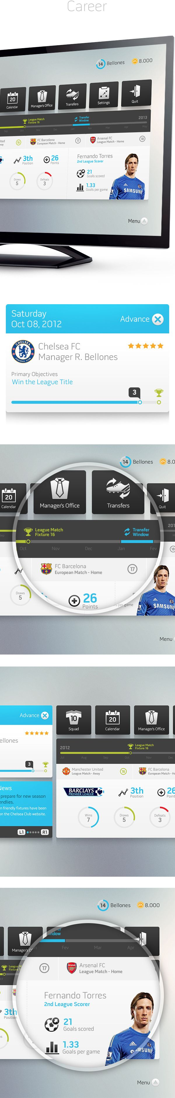 Fifa Interface Concept by Rodrigo Bellão
