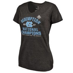 Fanatics Branded North Carolina Tar Heels Women's Heathered Gray 2017 NCAA Men's Basketball National Champions Ocotillo Schedule V-Neck T-Shirt