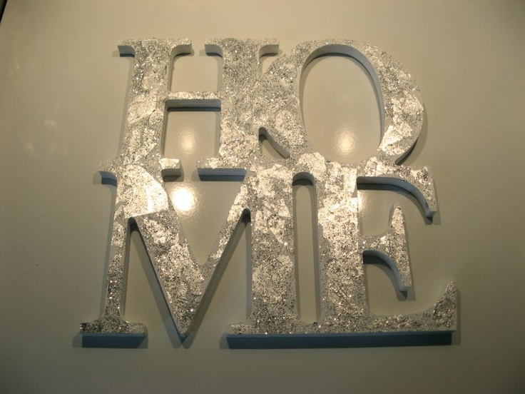 glitter home decor pinterest