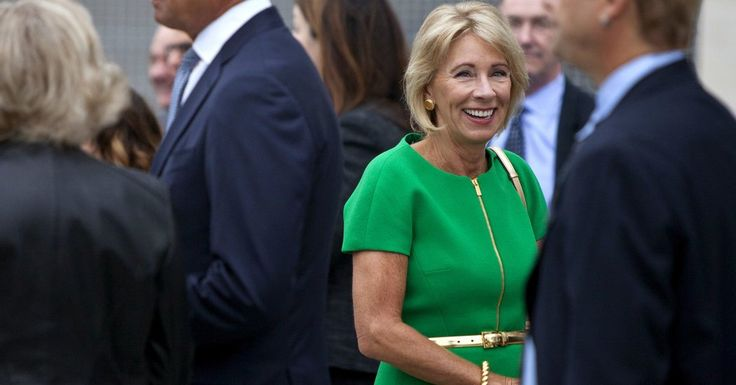 The secretary of education's calendar tracking her daily meetings is full of sessions with leading advocates of vouchers and charter schools.