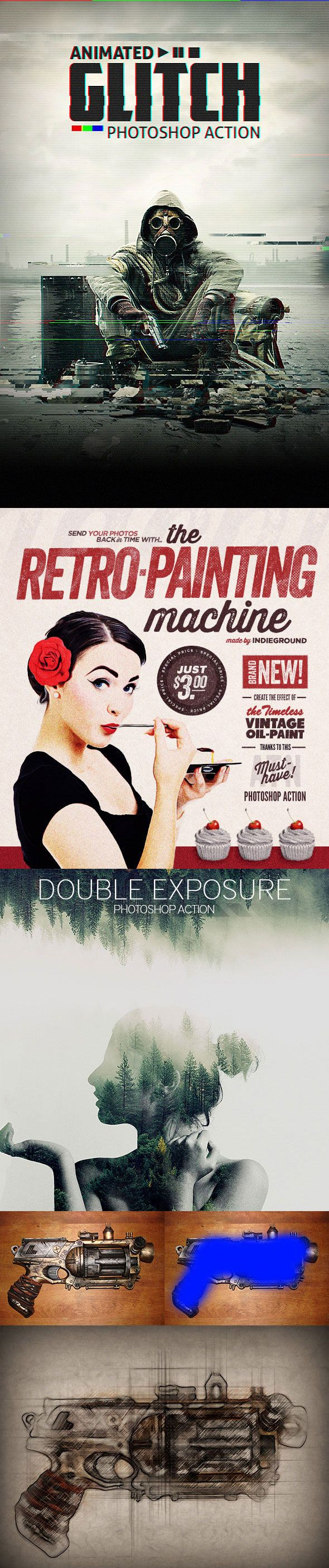 Graphicriver (not free) 26 Most Wanted Photoshop Actions For Designer, Photographer & Digital Artist