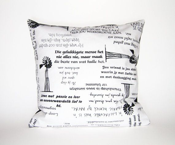 Afrikaans Pillow Cushion no M. Cover only by DecorativePillowCush