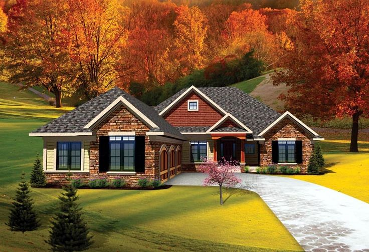 House Plan 73141 | Ranch Traditional Plan with 2065 Sq. Ft., 3 Bedrooms, 3 Bathrooms, 3 Car Garage at family home plans