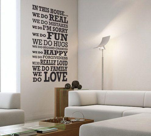 In questa casa grande - parete monogramma frase decal citazione vinile parete arte on Etsy, 18,48€