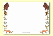 'The Gruffalo's Child' themed LANDSCAPE border - no lines