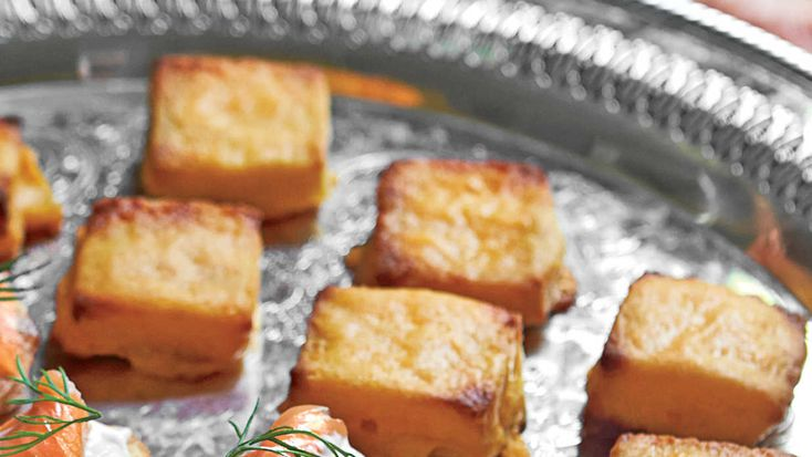 Cheese Dreams Recipe - Best Party Appetizer Recipes - Southern Living - Recipe:Cheese Dreams  These little gems will be the first appetizer to disappear. Make them the day before and refrigerate, or freeze up to 3 weeks. If frozen, pop in the oven straight from the freezer; increase the bake time by 10 minutes.