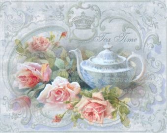 May Roses Bloom poem Vintage Postcard by CottageRoseGraphics
