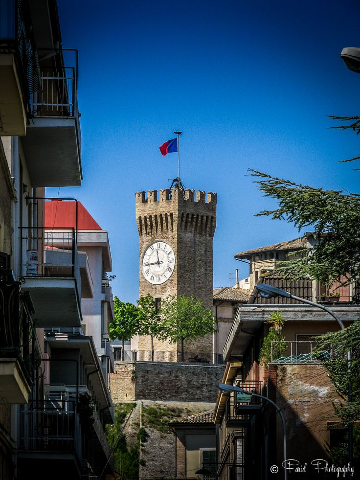 Italy - San Benedetto del Tronto Apr 2015. Watch tower