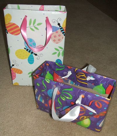 This is a guide about homemade gift bags. Making your own gift bags is a great recycling and money saving project.