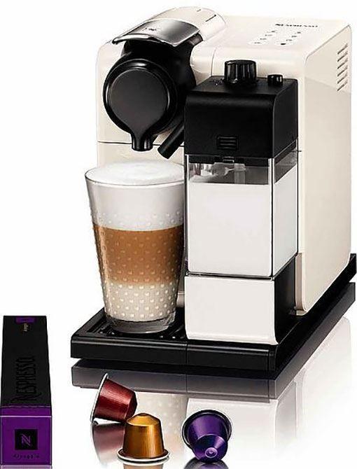 Nespresso DeLonghi Lattissima Touch EN550.W  Nespresso DeLonghi Lattissima Touch EN550W Met de DeLonghi Nespresso Lattissima Touch EN550W heb je binnen een mum van tijd je favoriete koffiedrank. Je kunt je koffiewensen nu zo instellen dat je altijd kunt genieten jouw perfecte kopje koffie. Je kunt met de Lattissima Touch EN550W kiezen uir zes heerlijke dranken namelijk ristretto espresso lungo warme melk cappuccino of latte macchiato. Je kunt zelf de verhouding van koffie en melk bepalen met…