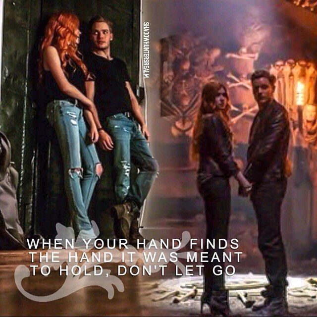 Clace ~ When your hand finds the hand it was meant to hold, don't let go (Lyrics: Demi Lovato - Heart by Heart)
