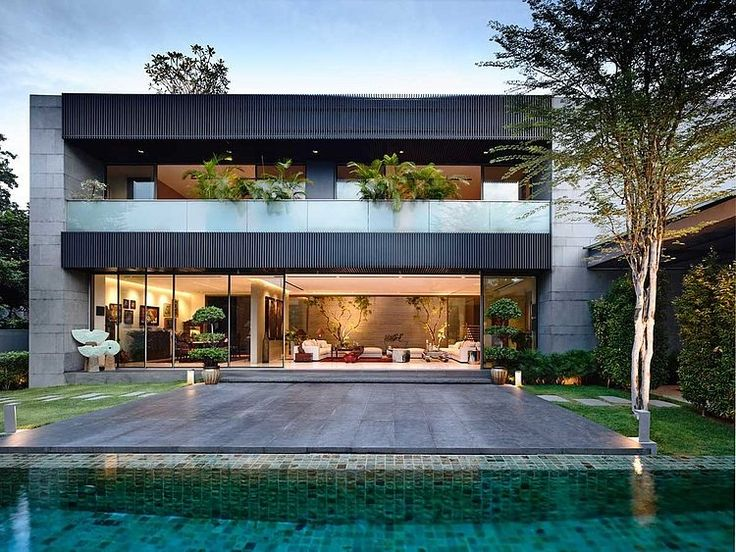 Designed by ONG&ONG, this minimalist Zen-inspired family home is situated in Singapore.