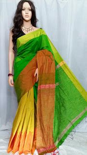 Rangtha closet: Handloom mahapar saree silk by soft cotton with gh...