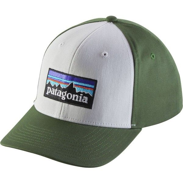Patagonia P-6 Logo Roger That Hat ($29) ❤ liked on Polyvore featuring accessories, hats, patagonia, party hat, adjustable snapback, patagonia hats and 6 panel hat