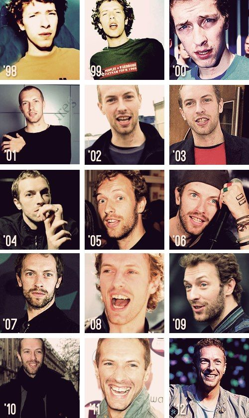 Chris Martin through the years