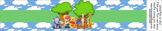 Winnie de Pooh y sus amigos: tercera parte de etiquetas para imprimir gratis.